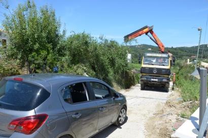 2018 Korfu Stau in der Baustelle